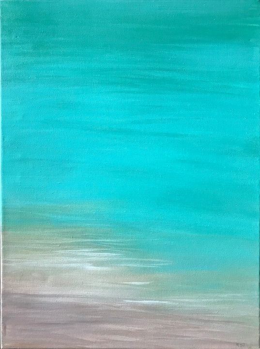 SOLD- At the Shore - Blue Oakley Art