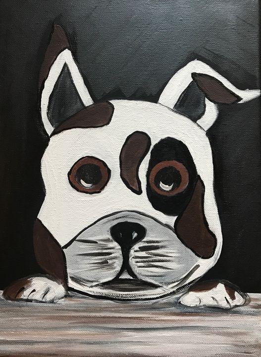 Puppy Face - Blue Oakley Art