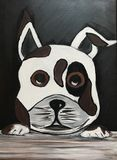 Original dog painting