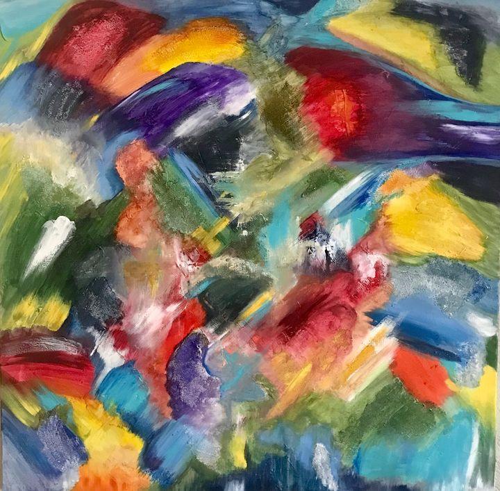 Jane's Abstract - Blue Oakley Art