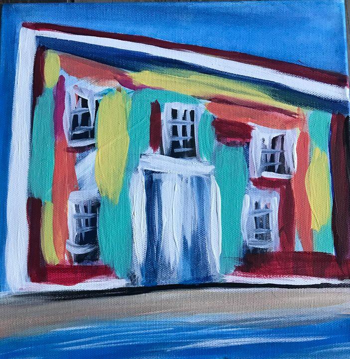 Island House - Blue Oakley Art