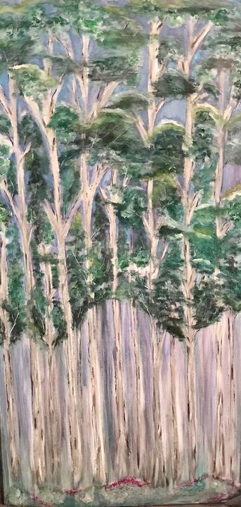 Jane's Trees - Blue Oakley Art