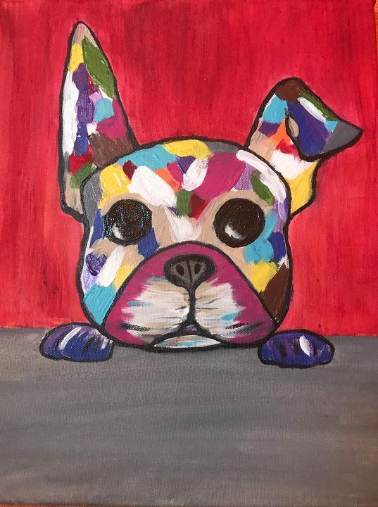 Puppy in Color - Blue Oakley Art