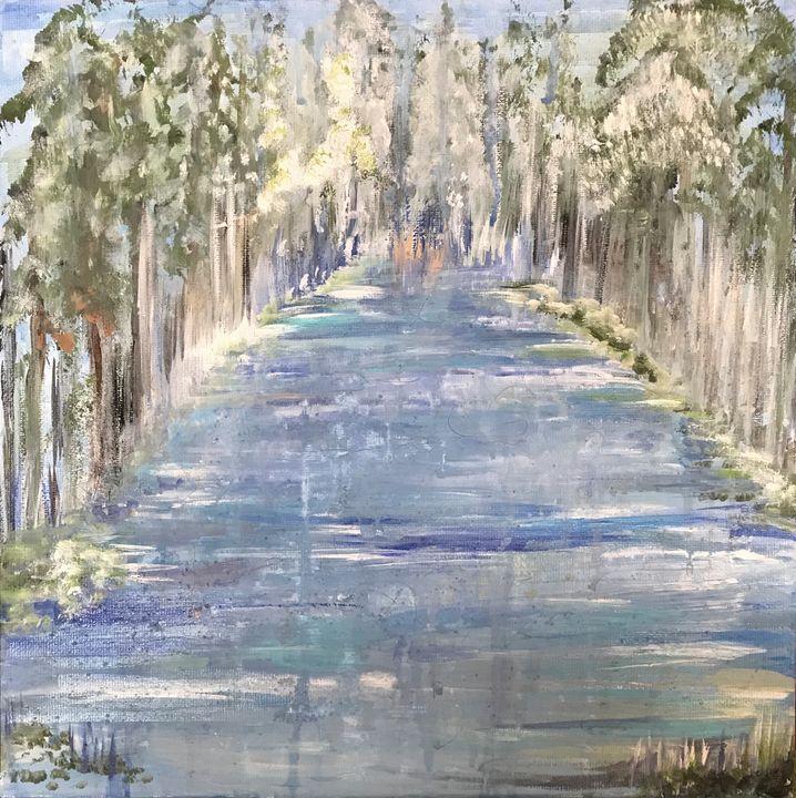 Water in the Woods - Blue Oakley Art