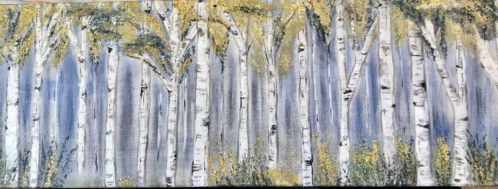 Trees in white - Blue Oakley Art