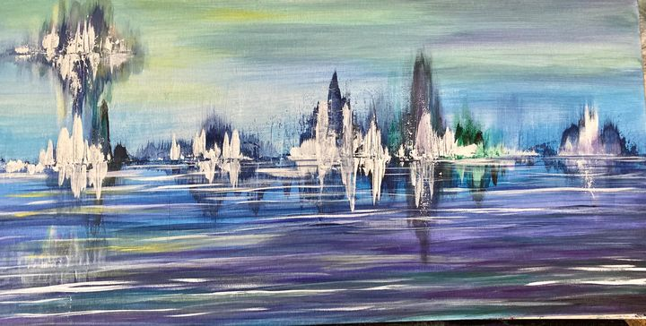 Lake Valerie - Blue Oakley Art