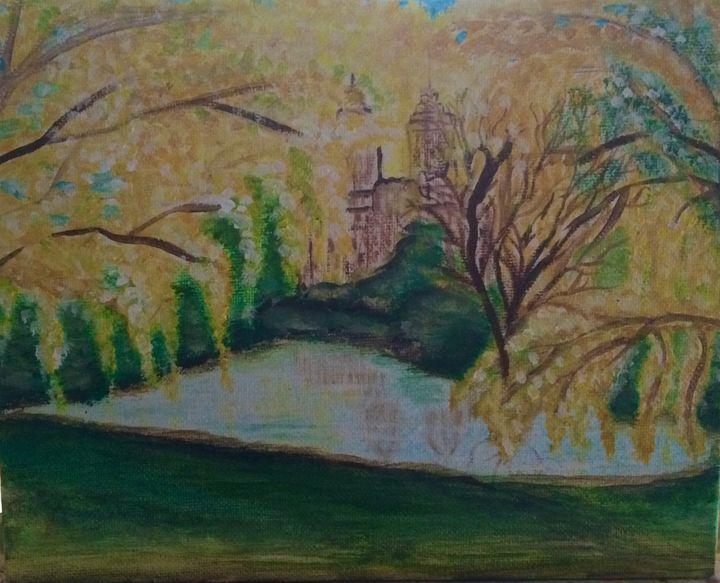 Framed in Yellow - Blue Oakley Art