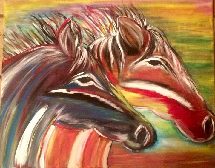 Wild Horses - Blue Oakley Art