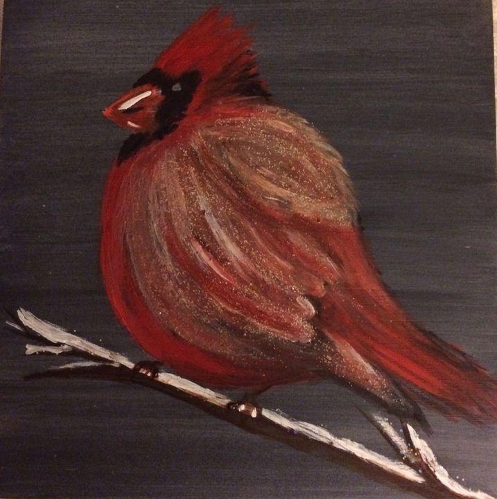 Cardinal in Red - Blue Oakley Art