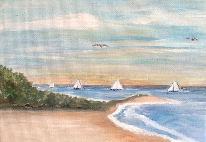 Sailing - Blue Oakley Art