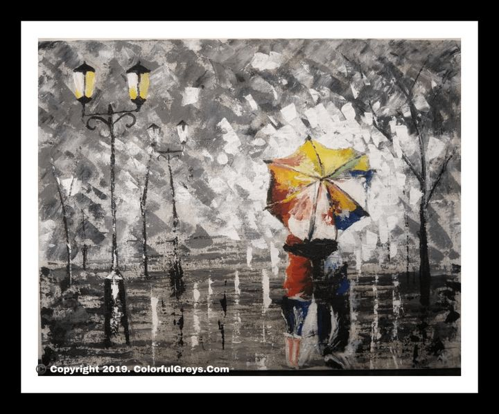 Walk In The Rain - ColorfulGreys