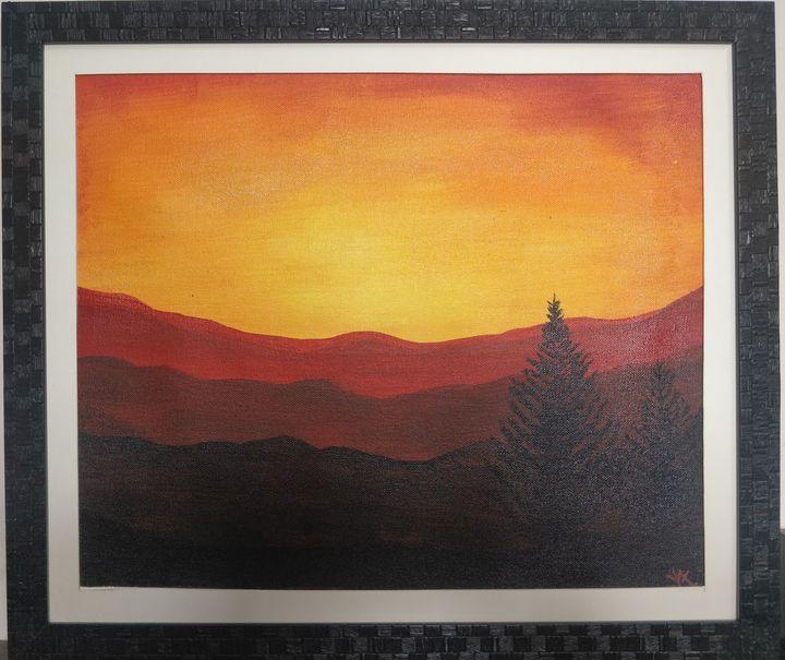 Dusky View through the Hills - ColorfulGreys