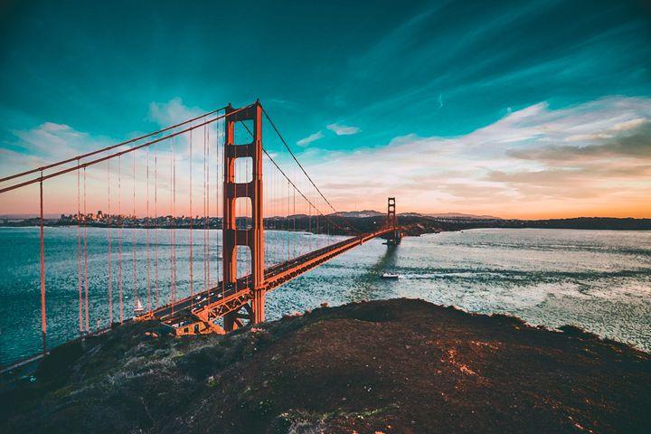 Sunset At The Bridge - Motivational