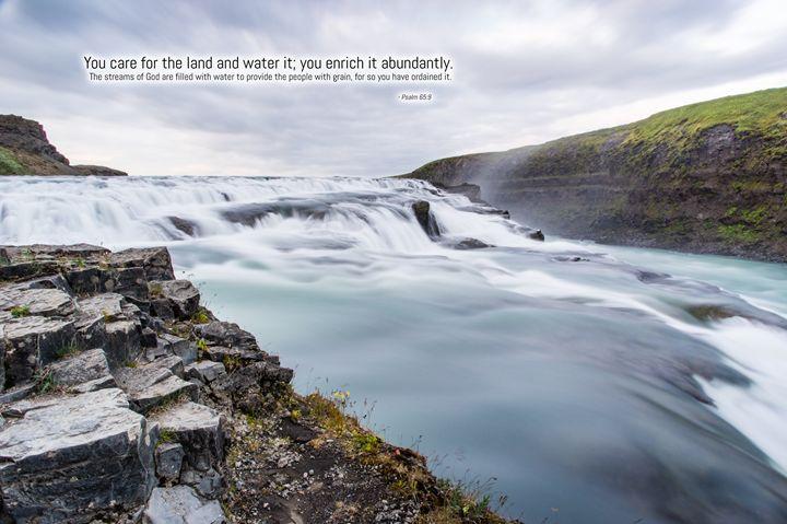 Verse - Streams of God (Psalm 65:9) - Motivational
