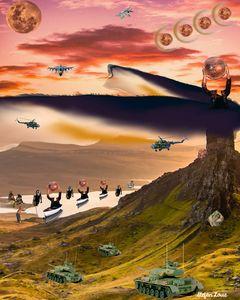 Invasion of the Headless Orb - Stefan Louie Art