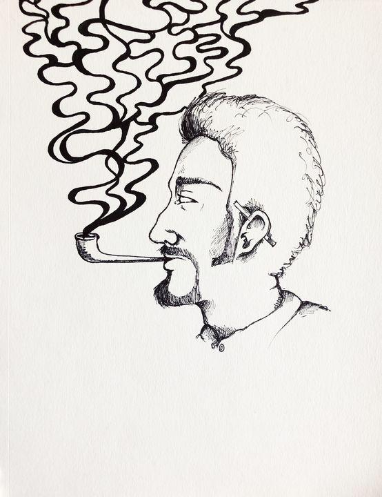 Sad Smoker - Lara Parizek