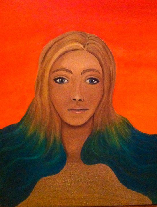 mermaid in the sand - Cara Bevilacqua