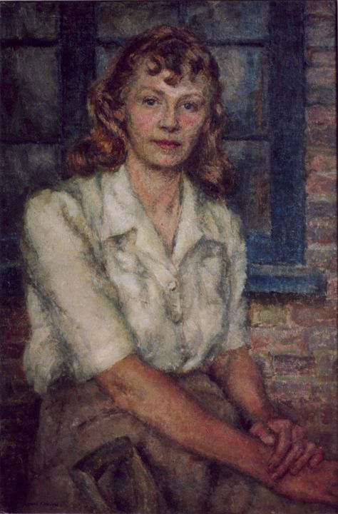 Self-Portrait as a Land Girl - Sonia Mervyn