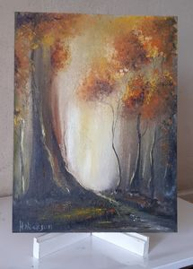 Autumn Forest Oil on canvas board
