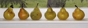 Pears On Light Sill
