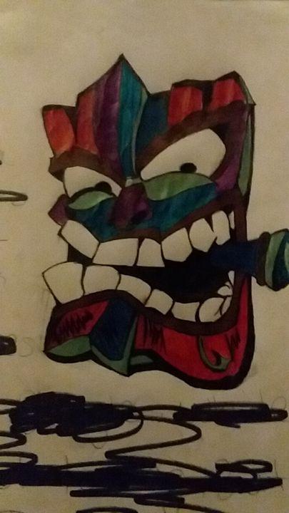 Tiki face - JD Parker