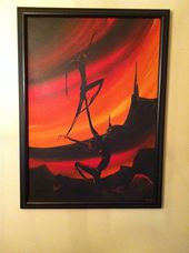 Authentic Vicari Oil panting on Canvas