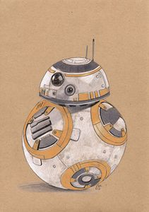 Star Wars BB-8 Artwork Print