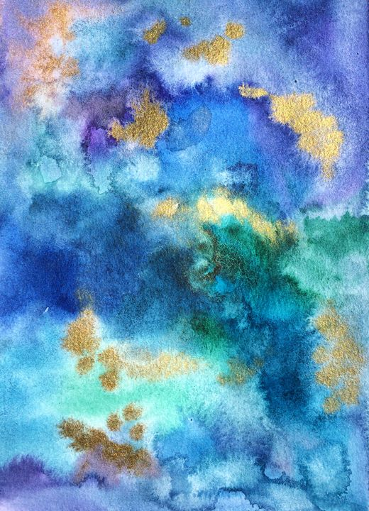 Watercolour gold - Ellen Jane Art