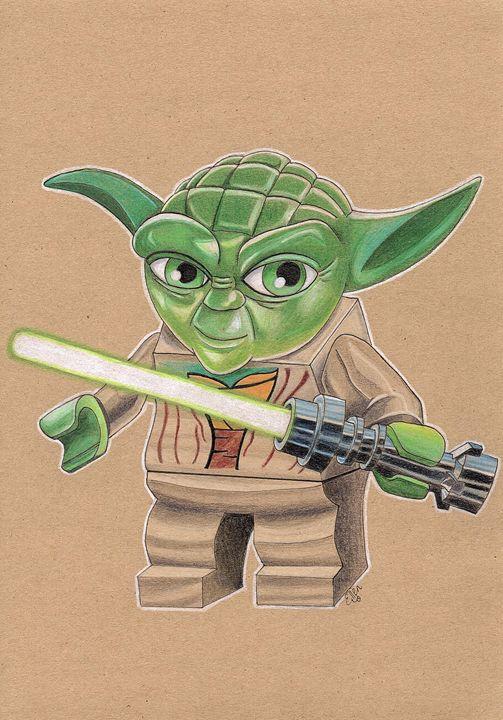 Lego, Star Wars, Master Yoda, Print - Ellen Jane Art