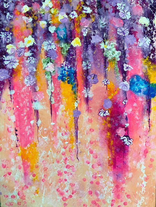 Flowing Flowers - Rebecca Russell Art