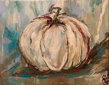 Abstract Pumpkin Painting Original
