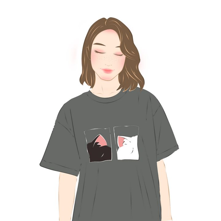 Ulzzang Girl - illustration from heart