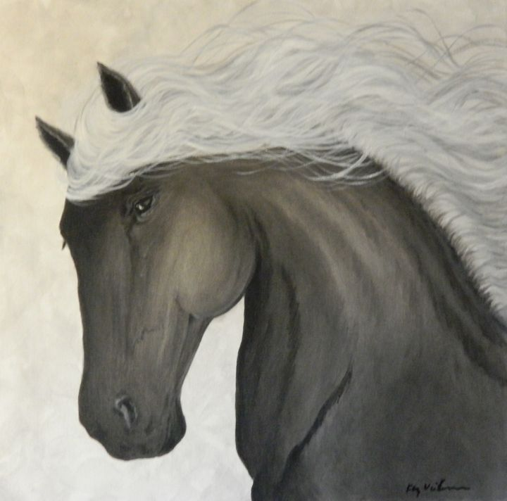 Grey Horse - Artist Kay Vickerman