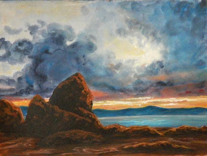 Lake Sunset - Artist Kay Vickerman