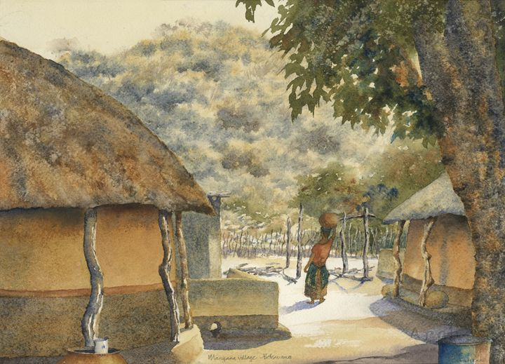 Manyana village, Botswana - Peter Sunners