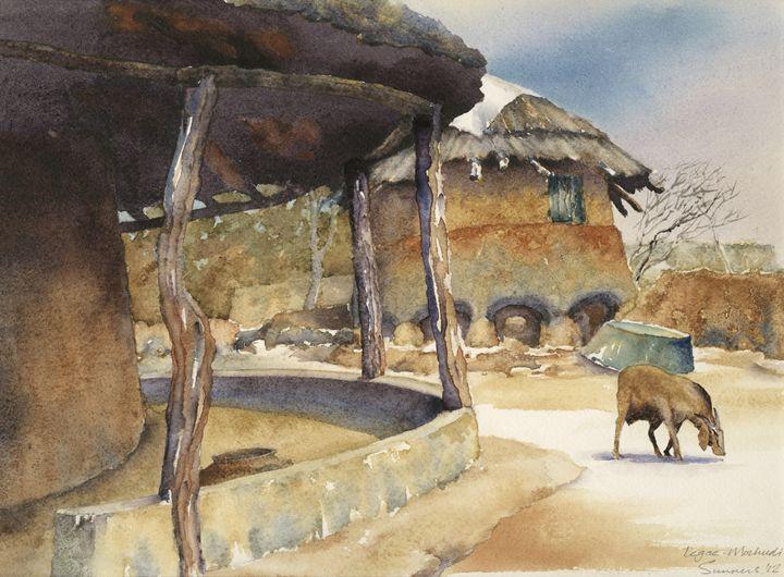 Granary  in legae.  Old Mochudi - Peter Sunners
