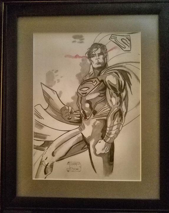 Superman black&white&redwhite&blue - Andrew Boone Superhero an Villain Gallery