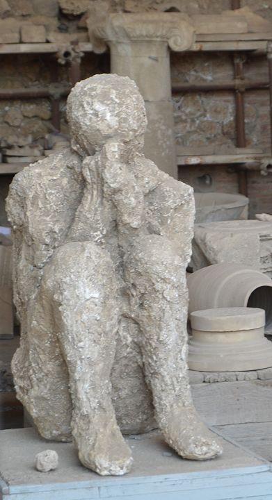 Cast of a Pompeian Man - Hankins Gallery