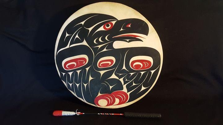 Raven Drum - Coast Salish Design