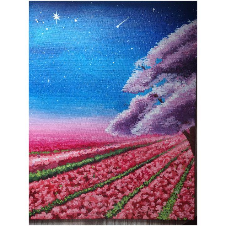 Pink field Nightscape - Dharshini Vennila. A
