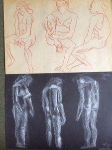 Six male figures