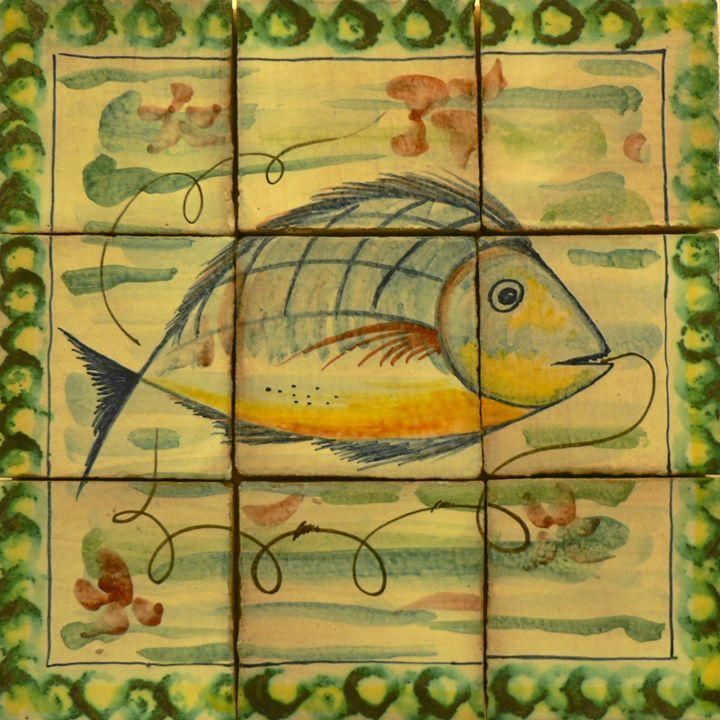 Fish on Ceramic - Coastal Scenes - Digital Photography