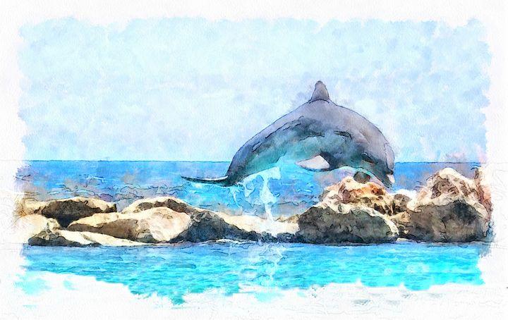 Dancing dolphin - Helen Barth