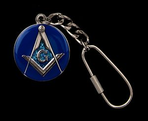 Hand Painted Masonic Key Chain