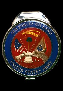 Army Medallion Money Clip - Maverick Designs