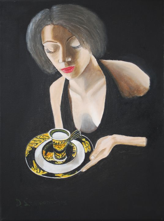 Σερβιτόρα waitress - Lussoart