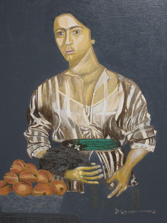 Αγόρι με στάχυα και φρούτα - Lusso Art