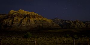 Red Rock at Night