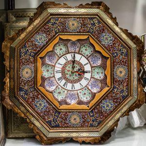 Hexagonal wooden wall clock - H2O