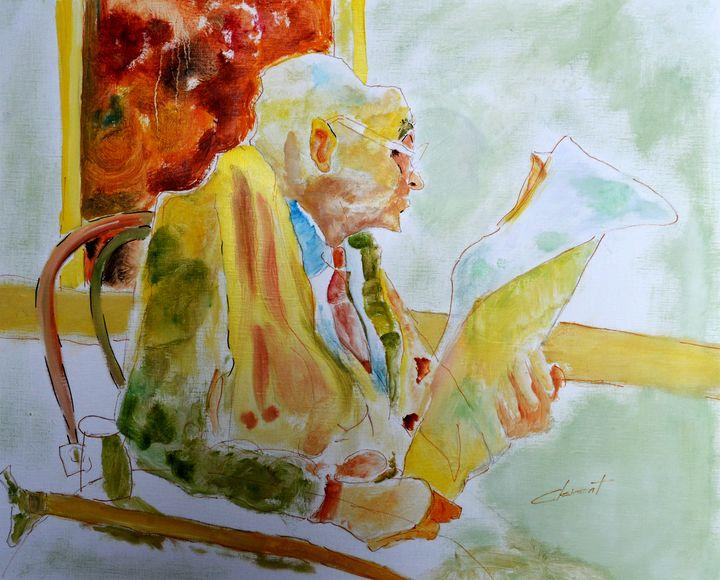 Reading Newspaper - One Studio